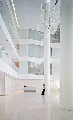 New Headquarters Of J  beautiful columns. tall slender elegant