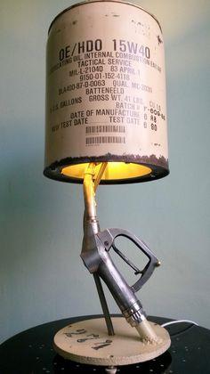 Gas pump handle light