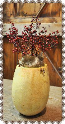 A Squash Vase Thanksgiving Centerpiece Thanksgiving Table Centerpieces, Thanksgiving Centerpieces, Country Primitive, Primitives, Squash, Vase, Autumn, Decorating, Nature