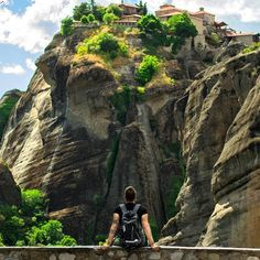 METEORA   THESSALY   GREECE ▪▪▪▪▪▪▪▪▪▪▪▪▪ Photo from @vasilis__kougiou! The monasteries of the Meteora are included in the Monuments of world cultural Heritage, because they are a unique harmonious matching of Byzantine architecture and natural beauty!