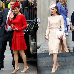 Love her style! Kate Middleton Diamond Jubilee Red McQueen Dress