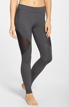 Free shipping and returns on Solow Mesh Inset Leggings at Nordstrom.com. Stretchy low-rise leggings transition from studio to street style with daring diamond mesh insets.