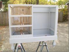 primer desk to kitchen island-craft station