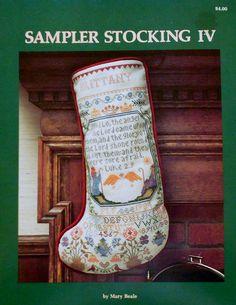 Sampler Stocking IX by Mary Beale