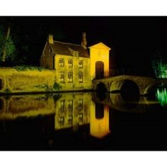 The Beguinage at Night Bruges Belgium Canvas Art - Paul Thompson DanitaDelimont (27 x 22)