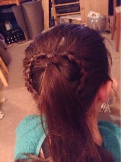 truly just me: Valentines Lace braid heart pony tails you can check out how to do this hairstyle on my blog