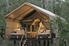 Glamping it up in this tent......see more about this glamping location!   Camping never looked so good!