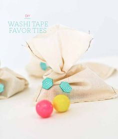 Washi tape favor ties! Too cute (Project by Victoria Hudgins)