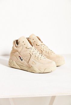 665151de9 shoes fila beige nude sneakers high top sneakers suede sneakers urban dope  Zapatillas Fila