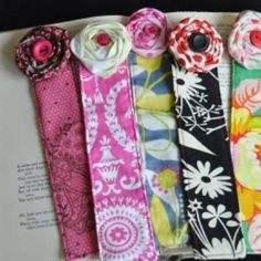 fabric bookmarks  as thank you gifts