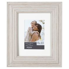 Rustic Whitewash Picture Frame, 8x10