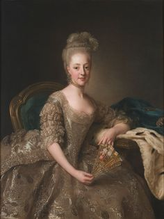 1774 Hedvig Elisabeth Charlotta by Alexander Roslin (Nationalmuseum - Stockholm, Sweden)