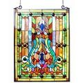 Tiffany-style Floral Hanging Glass Window Panel | Overstock.com Shopping - The Best Deals on Stained Glass Panels