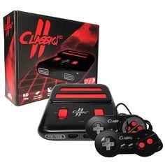 Classiq 2 HD 720p Twin Video Game System Black/Red for SNES/NES *OLD SKOOL* #OldSkool