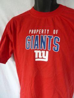 NEW YORK NY GIANTS New Youth XL 16-18 Red SHORT Sleeve Shirt Reebok NWT   NewYorkGiants b67d2129d