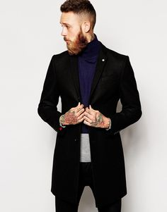Noose & Monkey Wool Overcoat