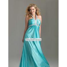 Halter Strapless ruched bodice crystals Satin plus size prom dress PD34564 at belloprom.com