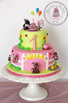 Happy Girly Farm Cake - Cake by Tynka