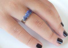 Sterling silver ring with semi-precious stonesSodalite by Ostrako