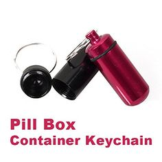 Aluminum Pill Box Bottle Holder Container Keychain *** This is an Amazon Associate's Pin. Click the image for detailed description on Amazon website.