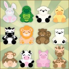 Cuddly Animals SVG Collection Cuddly Animals SVG Collection [] : SVG Files for Sure Cuts A Lot - SVGCuts.com
