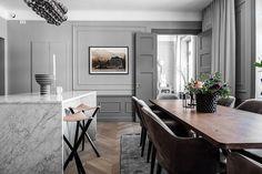 Modern Kitchen Interiors, Modern Home Interior Design, Scandinavian Interior Design, Contemporary Home Decor, Home Decor Kitchen, Modern French Interiors, Kitchen Ideas, Wood Floor Pattern, Beautiful Kitchen Designs