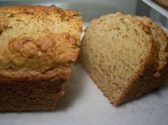 No Eggs, No Milk,  Banana Bread Recipe - Sub Rice Flour for gluten free allergen free recipe. Try applesauce and  cinnamon in place of 1 banana.