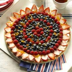 Summer Fruit Pizza Recipe from Taste of Home -- shared by Krista Collins of Concord, North Carolina