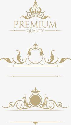 Crown european pattern vector design material Vector and PNG Cake Logo Design, Wedding Logo Design, Luxury Logo Design, Wedding Logos, Wedding Cards, Vector Design, Graphic Design, Lettering Styles, Ornaments Design