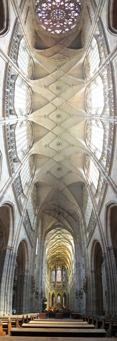Ceiling St. Vitus Cathedral Prague