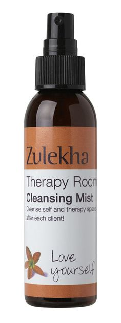 Therapy Room Cleansing Mist 100ml Essential Oils Blend Zulekha Aromatherapy Care Essential Oil Blends, Essential Oils, Sprays, Aromatherapy, Mists, Cleanse, Essentials, Personal Care, Room