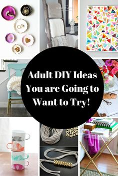 Crafts and Adult DIY Projects are All the Rage! You've seen countless Adult coloring books out there these days.  It is time that we grown ups give ourselves the freedom to create and have a little fun.  Today I want to share some really cool and fun adult DIY and craft projects that I want …
