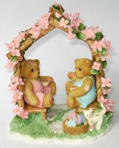 """Imogen and Pam - """"Two-gether times are the best times"""" C Bear, Bear Art, Boyds Bears, Teddy Bears, Enesco Figurines, Kimberly Ann, Polymer Project, Cute Bears, Cold Porcelain"""