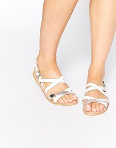 Image 1 ofASOS FLASK Strappy Leather Sandals