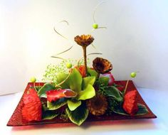 red poppy flower arrangement for table decoration
