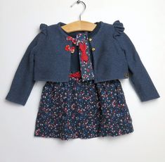 a755583202b3b Ensemble Robe   Cardigan Sergent Major fille 9 mois. Ocaz pour les kids