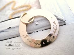Hand Stamped Jewelry . Personalized Jewelry . Forever & Infinity by BragAboutIt