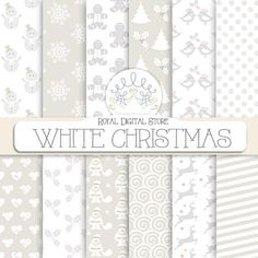 Christmas digital paper christmas scrapbook by royaldigitalstore