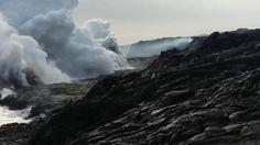 Lava delta collapse spews molten rock in Hawaii, December 31, 2016