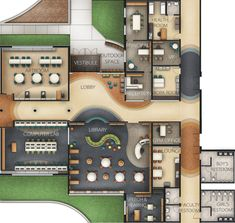 Elementary School Design by Adrienne Michaels, via Behance