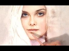 Drawing Sleeping Beauty (Elle Fanning) from Maleficent portrait with pastel - YouTube