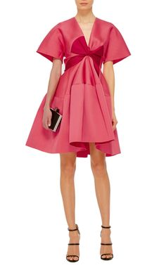 This **Paule Ka** dress features oversized sleeves and an A-line silhouette.