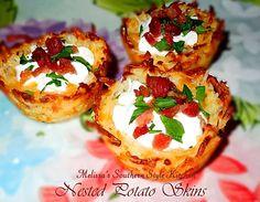 Melissa's Southern Style Kitchen: Nested Potato Skins [Potato Skin Nests]