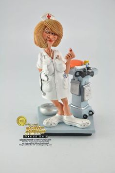 This is a Nurse collectible figurine. It is the perfect gift for Fathers Day, retirement, birthday or event. Warren Stratford http://www.warren-stratford.com/who-is-warren-stratford/  is the master of the collectible figurine.  Warren Stratford www.warren-stratford.com is the world's most loved comic artist. His collectible figurines are sold in the best retail and online shops in the world.