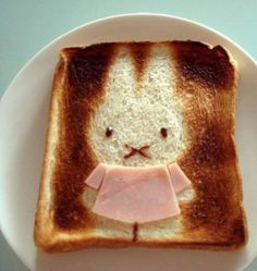 """A New Rage in Japan: Toast Art    A new rage in Japan is called """"Cute Toast Art"""". The aim is to decorate breakfast toasts in the cutest pattern."""