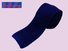Nick Bronson Plain Silk Knitted Tie - Colour Viola - Purple http://www.joesstore.co.uk/ties/ties.htm