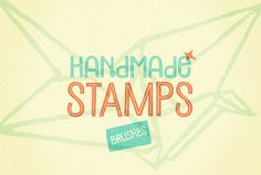 48 Handmade Stamp Brushes by 3lines on Creative Market