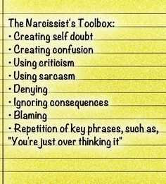 The Narcissist's Toolbox