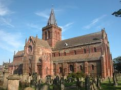 St. Magnus Cathedral, Kirkwall, Orkney Islands, Scotland..  Ancestral home of clan Gunn.