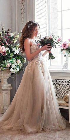 non white romantic lace aline wedding dresses #wedding #weddingideas #dresses #weddingdresses #bridalgowns #wedding #weddingideas #weddings #weddingdresses #weddingdress #bridaldress #bridaldresses #alineweddingdresses